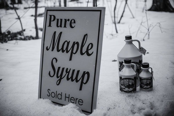Maple Syrup Sold Here Sign